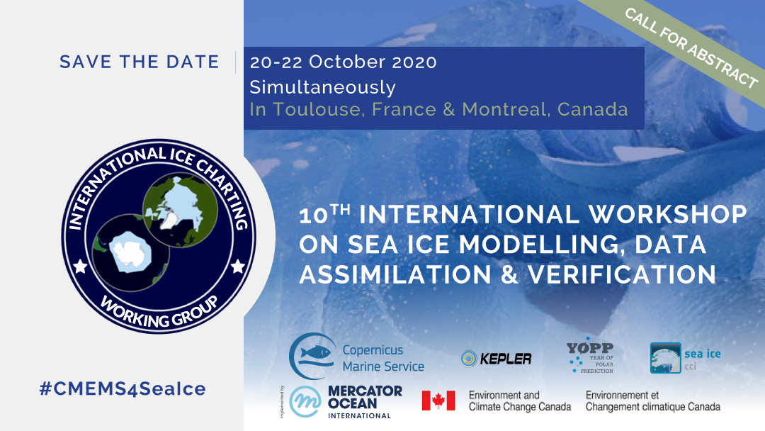 !0th international workshop on sea ice modelling, assimilation, observations, predictions and verification