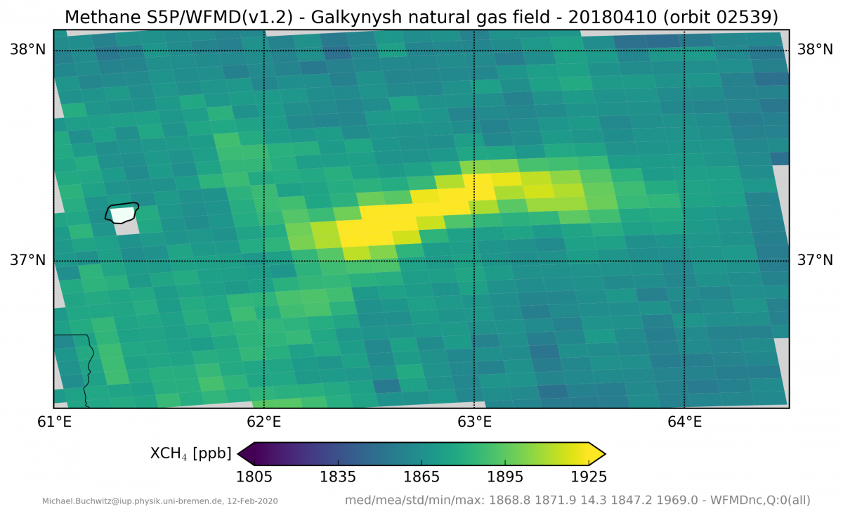 xch4 methane plume - s5p_wfmd_Galkynysh_20180410